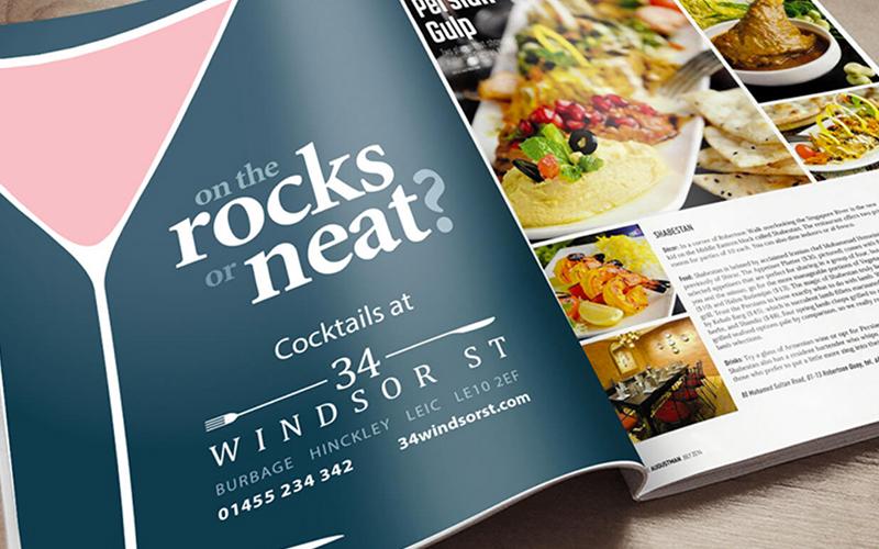work 34 Windsor Street press ad